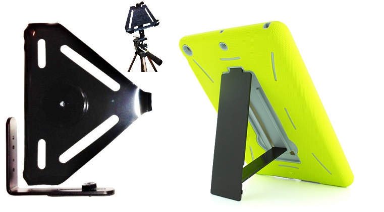 SlipGrip Tripod Mount For Apple iPad Air Tablet Using Dual Layer KickStand Stand Case