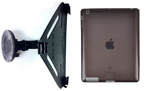 SlipGrip CAR Holder For Apple iPad Air Tablet Using Hard Rubber Gel Hard Rubber Case