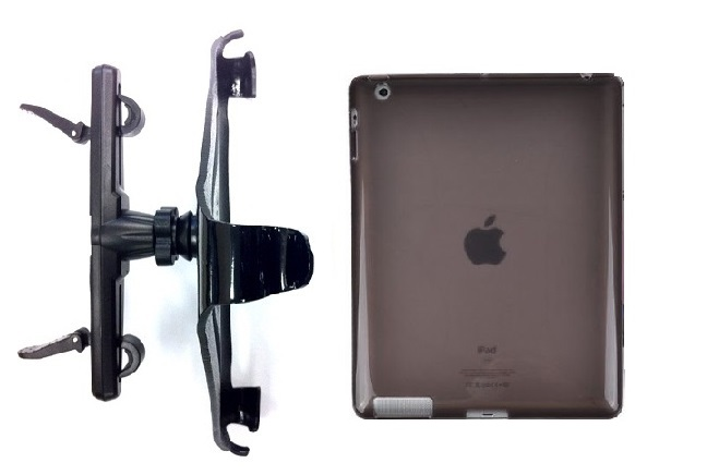 SlipGrip Headrest Mount For Apple iPad Air Tablet Using Hard Rubber Gel Hard Rubber Case
