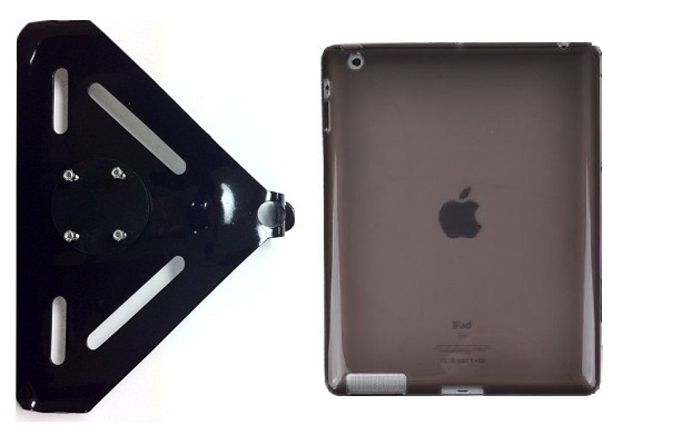 SlipGrip RAM-HOL Mount For Apple iPad Air Tablet Using Hard Rubber Gel Hard Rubber Case