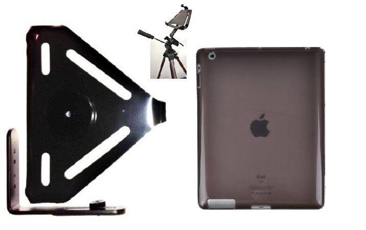 SlipGrip Tripod Mount For Apple iPad Air Tablet Using Hard Rubber Gel Hard Rubber Case