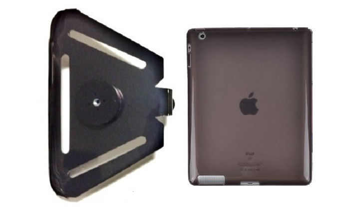 SlipGrip 1/4 inch Screw Bracket For Apple iPad Air Tablet Using Hard Rubber Gel Hard Rubber Case