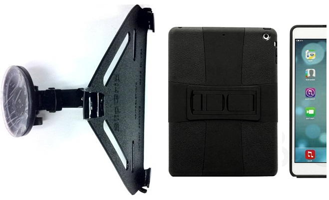 SlipGrip CAR Holder For Apple iPad Air Tablet Using Hybrid ShockProof Stand Case