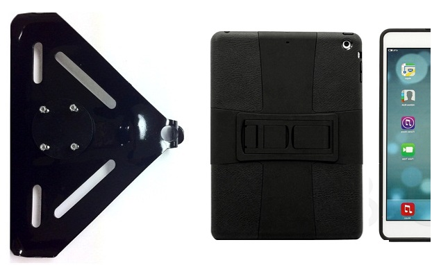 SlipGrip RAM-HOL Mount For Apple iPad Air Tablet Using Hybrid ShockProof Stand Case