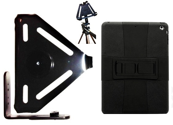 SlipGrip Tripod Mount For Apple iPad Air Tablet Using Hybrid ShockProof Stand Case