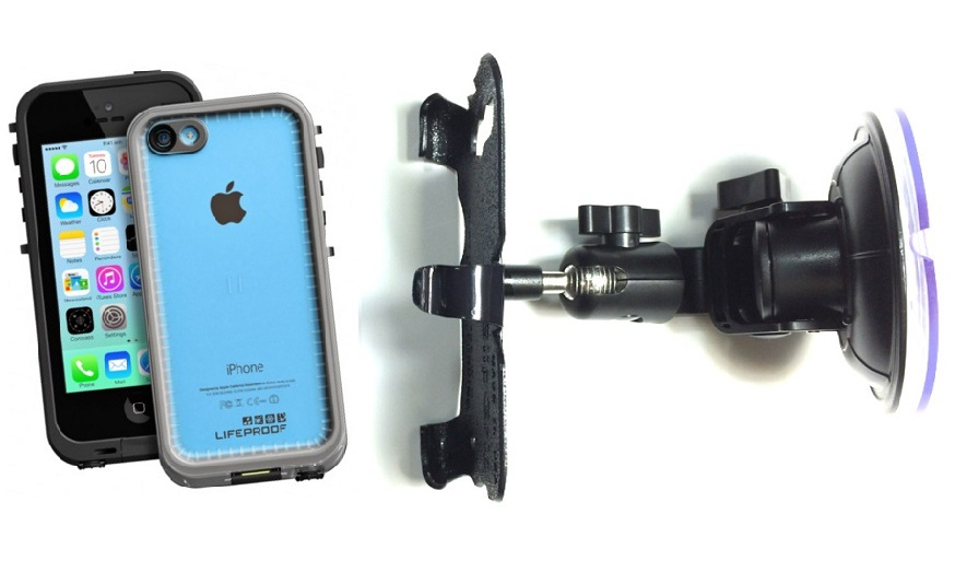 SlipGrip Car Holder For Apple iPhone 5C Using LifeProof FRE Case DT