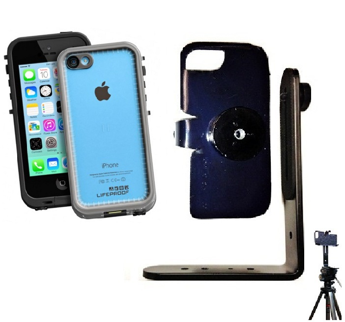 SlipGrip Tripod Mount For Apple iPhone 5C Using LifeProof FRE Case