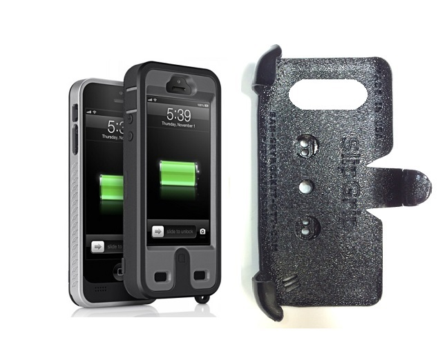 SlipGrip PRO Mounts Holder For Apple iPhone 5 & 5S Using ibattz Mojo Refuel Armor Battery Case
