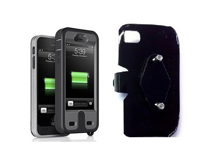 SlipGrip RAM-HOL Holder For Apple iPhone 5 & 5S Using ibattz Mojo Refuel Armor Battery Case