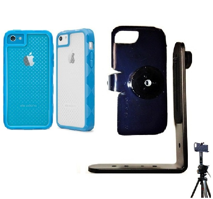 SlipGrip Tripod Mount For Apple iPhone 5 & 5S Using X-Doria Defense 720 Case