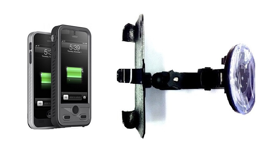 SlipGrip Car Holder For Apple iPhone 5 & 5S Using ibattz Mojo Refuel Aqua Battery Case HV