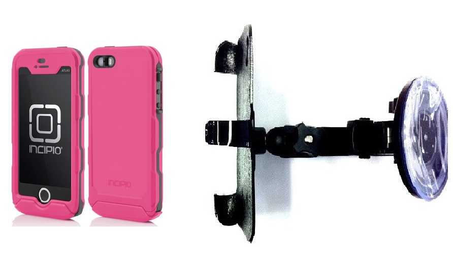 SlipGrip Car Holder For Apple iPhone 5 & 5S Using Incipio ATLAS ID Waterproof Rugged Case HV