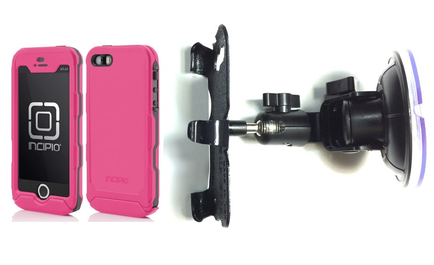 SlipGrip Car Holder For Apple iPhone 5 & 5S Using Incipio ATLAS ID Waterproof Rugged Case DT