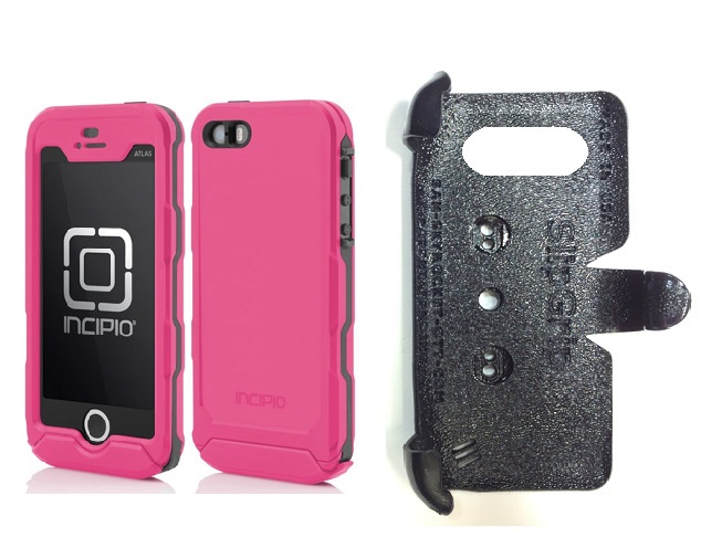 SlipGrip PRO Mounts Holder For Apple iPhone 5 & 5S Using Incipio ATLAS ID Waterproof Rugged Case