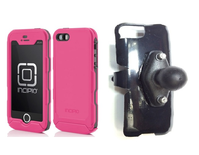 SlipGrip RAM Holder For Apple iPhone 5 & 5S Using Incipio ATLAS ID Waterproof Rugged Case