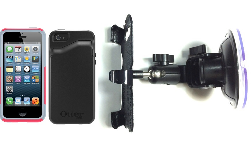 SlipGrip Car Holder For Apple iPhone 5 & 5S Using Otterbox Commuter Wallet Series Case DT