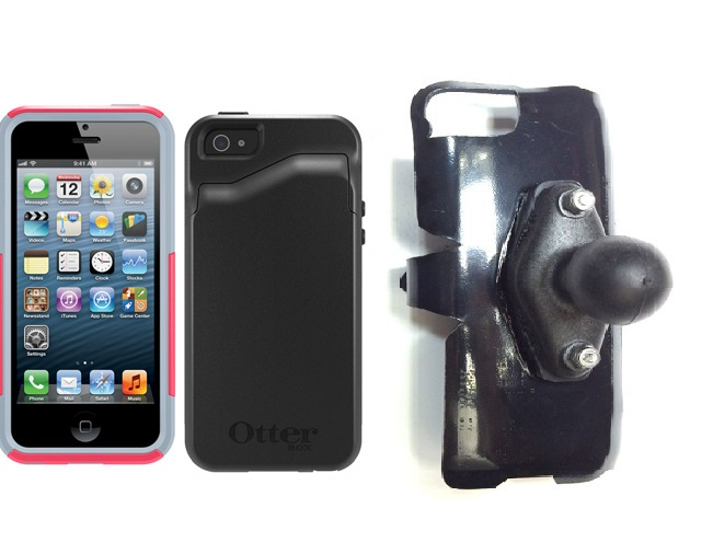 SlipGrip RAM Holder For Apple iPhone 5 & 5S Using Otterbox Commuter Wallet Series Case