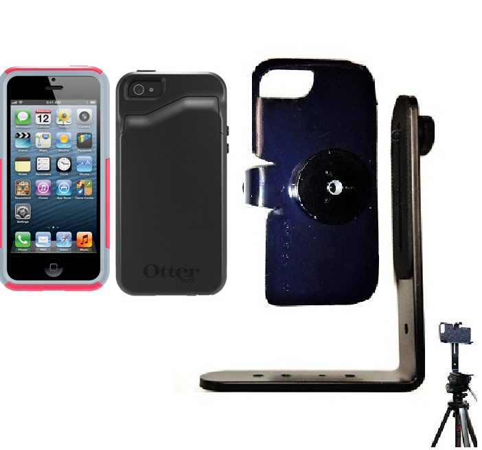SlipGrip Tripod Mount For Apple iPhone 5 & 5S Using Otterbox Commuter Wallet Series Case