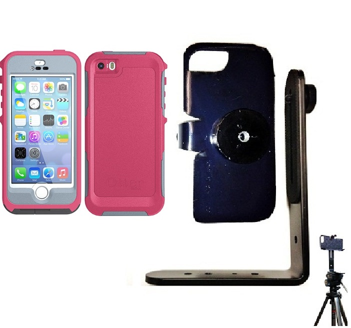 SlipGrip Tripod Mount For Apple iPhone 5 & 5S Using Otterbox Preserver Case