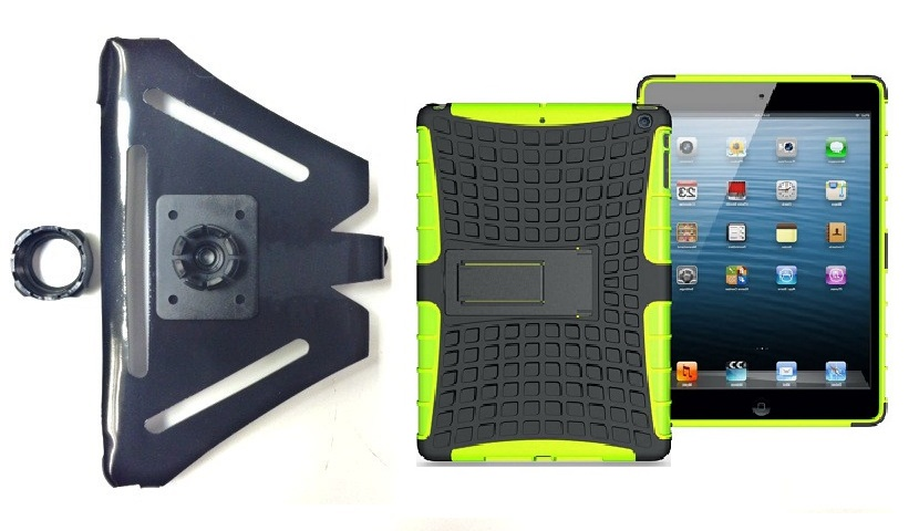 SlipGrip 22MM Ball Holder For Apple iPad Air Tablet Using Armor Heavy Duty Hybrid Silicone Case