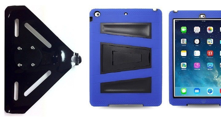 SlipGrip RAM-HOL Mount For Apple iPad Air Tablet Using Rugged Armor V-Style Kickstand Case