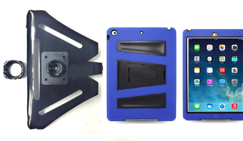 SlipGrip 22MM Ball Holder For Apple iPad Air Tablet Using Rugged Armor V-Style Kickstand Case