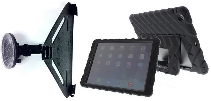 SlipGrip CAR Holder For Apple iPad Air Tablet Using Gumdrop Drop Tech Hideaway Case