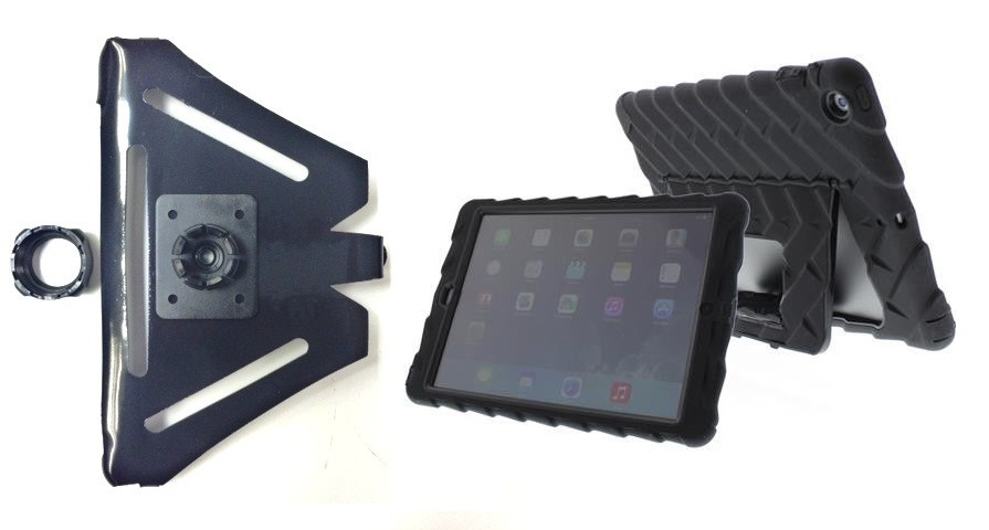 SlipGrip 22MM Ball Holder For Apple iPad Air Tablet Using Gumdrop Drop Tech Hideaway Case