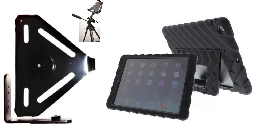 SlipGrip Tripod Mount For Apple iPad Air Tablet Using Gumdrop Drop Tech Hideaway Case