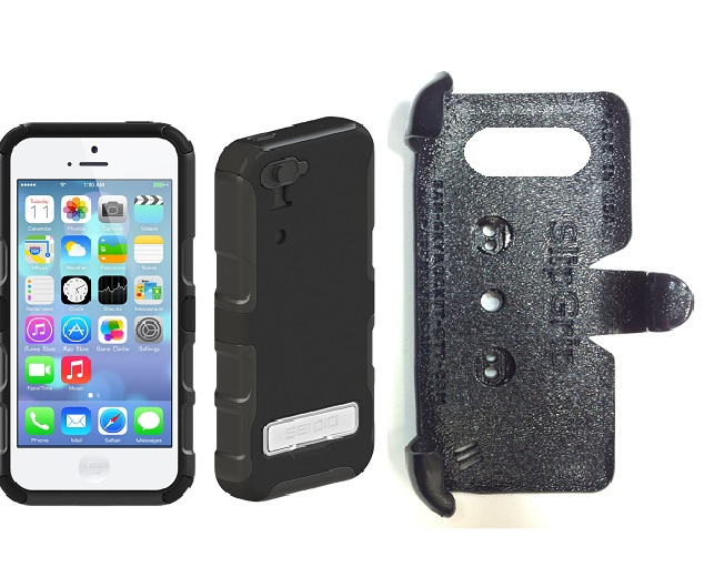 SlipGrip PRO Mounts Holder For Apple iPhone 5C Using Seidio CONVERT Metal KickStand Case
