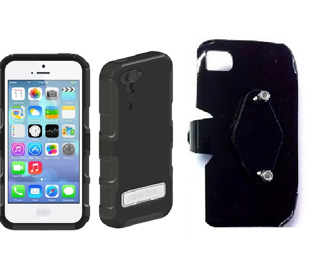 SlipGrip RAM-HOL Holder For Apple iPhone 5C Using Seidio CONVERT Metal KickStand Case