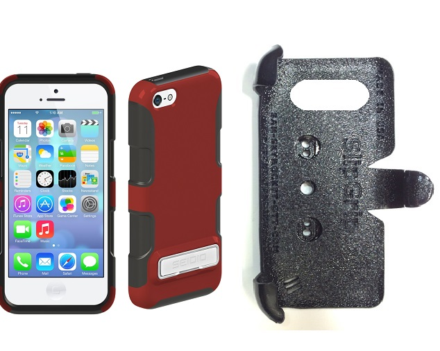 SlipGrip PRO Mounts Holder For Apple iPhone 5C Using Seidio DILEX Metal KickStand Case