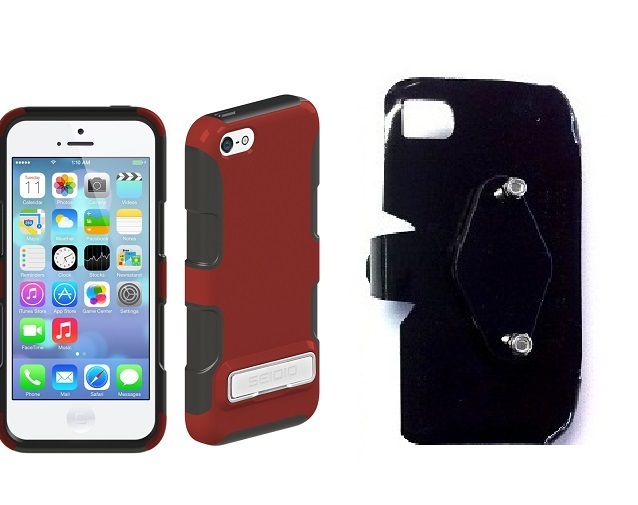 SlipGrip RAM-HOL Holder For Apple iPhone 5C Using Seidio DILEX Metal KickStand Case
