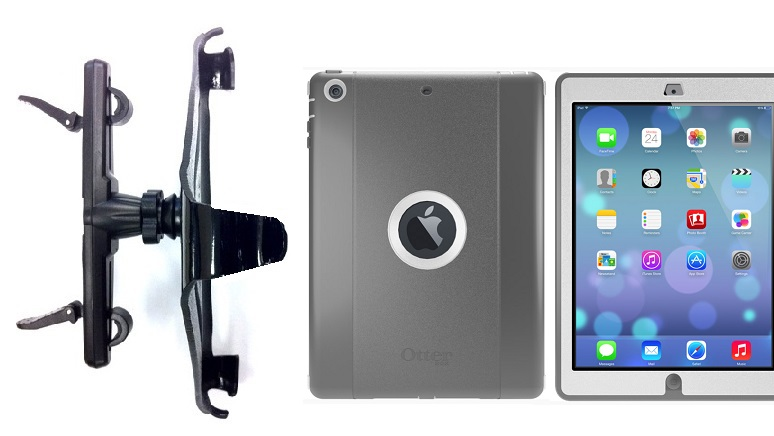 SlipGrip Headrest Mount For Apple iPad Air Tablet Using Otterbox Defender Case