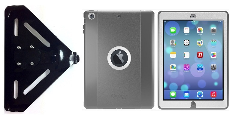 SlipGrip RAM-HOL Mount For Apple iPad Air Tablet Using Otterbox Defender Case