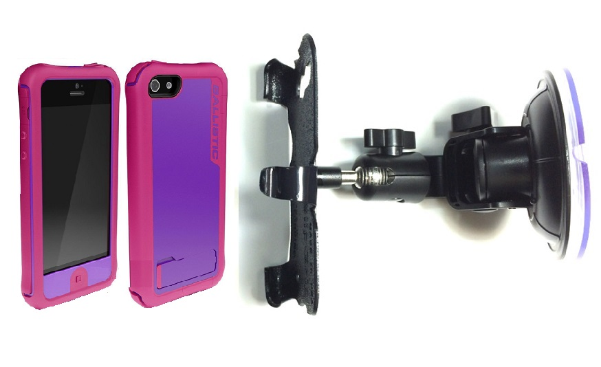SlipGrip Car Holder For Apple iPhone 5 & 5S Using Ballistic every1 Case DT