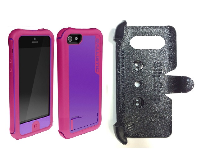 SlipGrip PRO Mounts Holder For Apple iPhone 5 & 5S Using Ballistic every1 Case