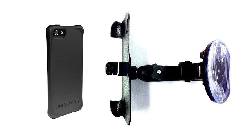SlipGrip Car Holder For Apple iPhone 5 & 5S Using Ballistic LS Smooth Series Case HV