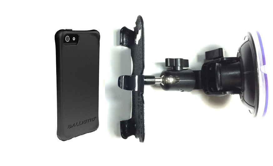 SlipGrip Car Holder For Apple iPhone 5 & 5S Using Ballistic LS Smooth Series Case DT