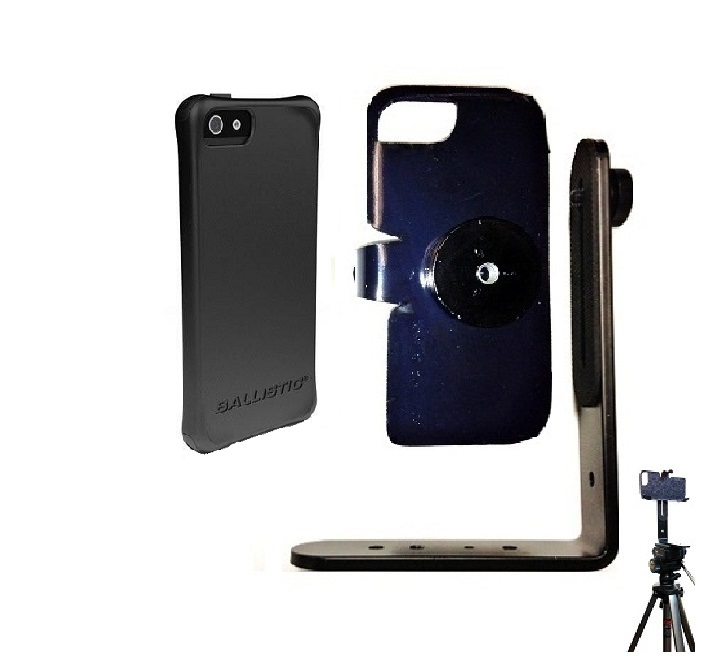 SlipGrip Tripod Mount For Apple iPhone 5 & 5S Using Ballistic LS Smooth Series Case