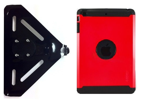 SlipGrip RAM-HOL Mount For Apple iPad Mini Tablet Using Spigen Armor Hybrid Silicone Plastic Case