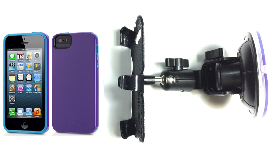 SlipGrip Car Holder For Apple iPhone 5 & 5S Using Tech21 Impact Trio Case DT