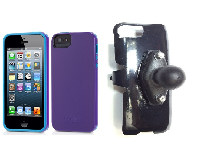 SlipGrip RAM Holder For Apple iPhone 5 & 5S Using Tech21 Impact Trio Case