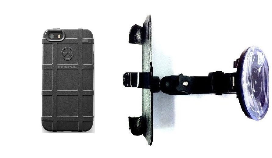SlipGrip Car Holder For Apple iPhone 5 & 5S Using Magpul Bump Case HV