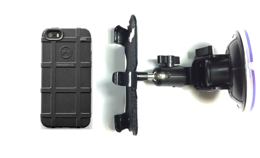 SlipGrip Car Holder For Apple iPhone 5 & 5S Using Magpul Bump Case DT