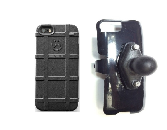 SlipGrip RAM Holder For Apple iPhone 5 & 5S Using Magpul Bump Case