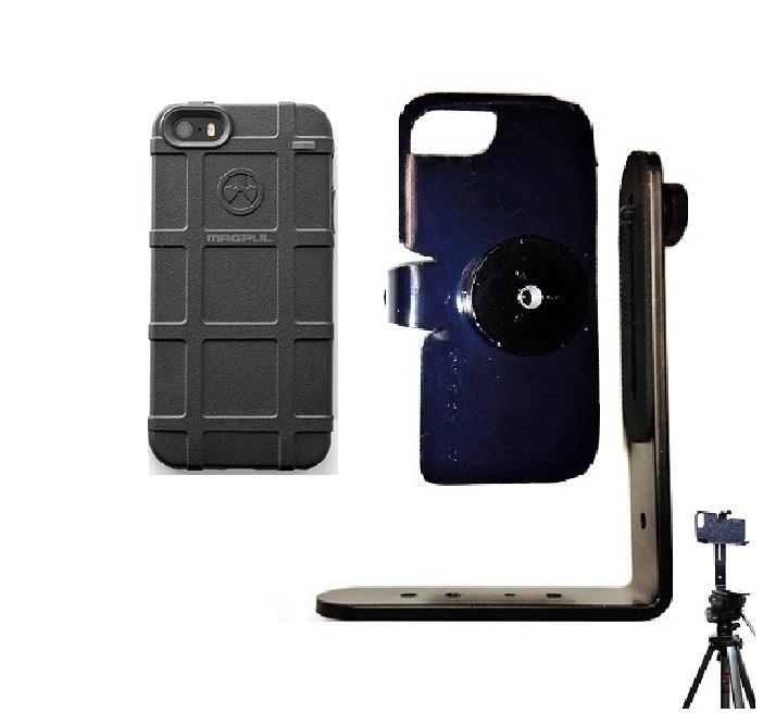 SlipGrip Tripod Mount For Apple iPhone 5 & 5S Using Magpul Bump Case