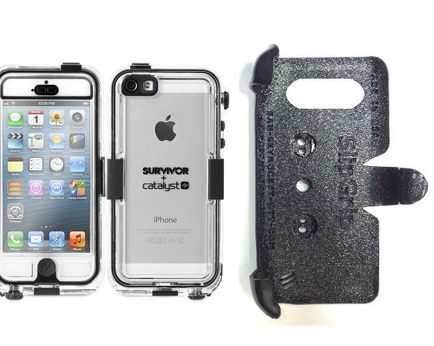 SlipGrip PRO Mounts Holder For Apple iPhone 5 & 5S Using Griffin Survivor Catalyst Waterproof Case