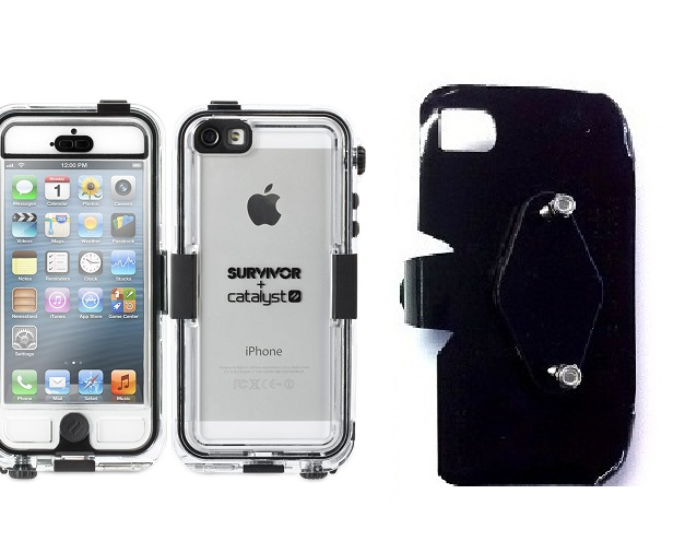 SlipGrip RAM-HOL Holder For Apple iPhone 5 & 5S Using Griffin Survivor Catalyst Waterproof Case