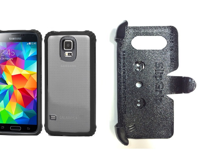 SlipGrip PRO Mounts Holder For Samsung Galaxy S5 i9600 Using Griffin Survivor Clear Case